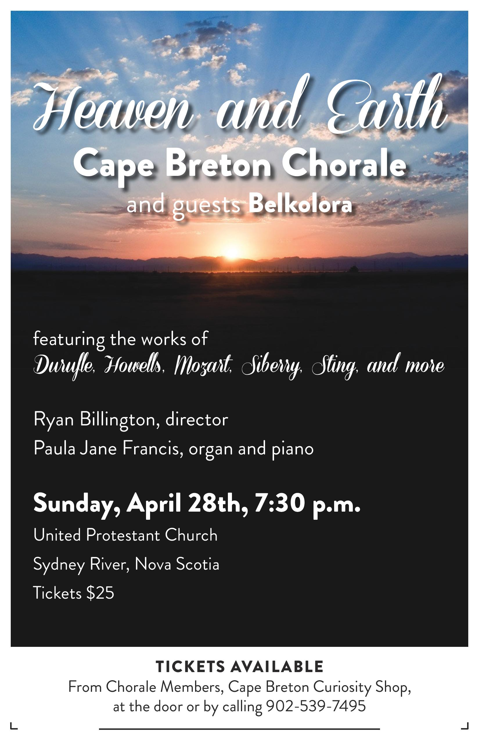 Cape Breton Chorale Heaven and Earth Poster PROOF 1 page 001